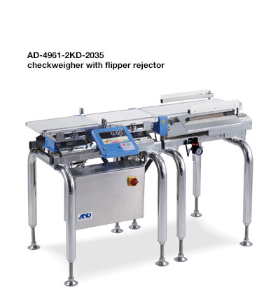 AD4961-2KD-2035 checkweigher with flipper rejector