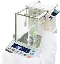 Pipette accuracy test using the BM series